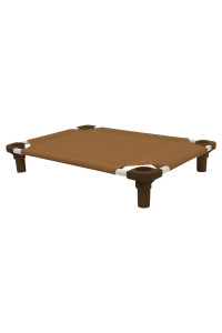 30x22 Pet Cot in Brown with Brown Legs, Unassembled