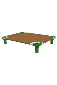 30x22 Pet Cot in Brown with Dustin Green Legs, Unassembled