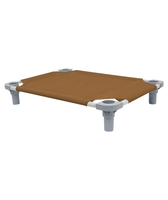30x22 Pet Cot in Brown with Gray Legs, Unassembled