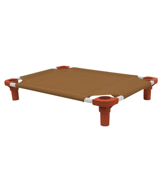 30x22 Pet Cot in Brown with Rust Legs, Unassembled