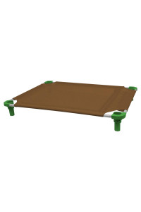 40x30 Pet Cot in Brown with Dustin Green Legs, Unassembled