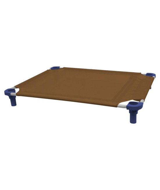 40x30 Pet Cot in Brown with Navy Legs, Unassembled