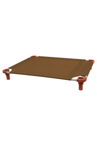 40x30 Pet Cot in Brown with Rust Legs, Unassembled