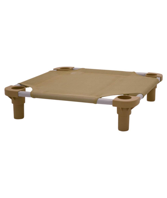 22x22 Pet Cot in Tan with Tan Legs, Unassembled