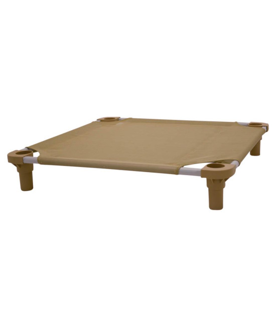 30x30 Pet Cot in Tan with Tan Legs, Unassembled