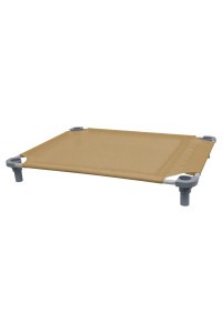40x30 Pet Cot in Tan with Gray Legs, Unassembled