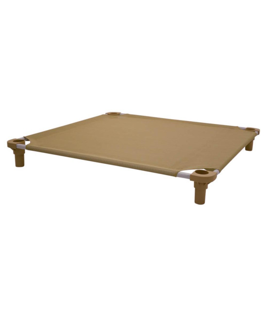 40x40 Pet Cot in Tan with Tan Legs, Unassembled