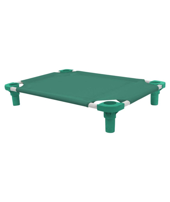 30x22 Pet Cot in Teal with Teal Legs, Unassembled