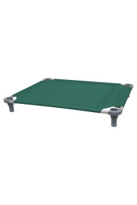 40x30 Pet Cot in Teal with Gray Legs, Unassembled