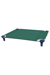 40x30 Pet Cot in Teal with Navy Legs, Unassembled