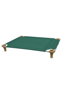 40x30 Pet Cot in Teal with Tan Legs, Unassembled
