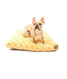 Yellow Links Small Rectangle Pet Bed