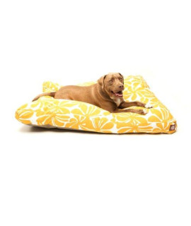 Yellow Plantation Large Rectangle Pet Bed