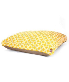 Yellow Links Large Rectangle Pet Bed