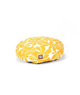 Yellow Plantation Small Round Pet Bed