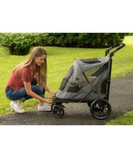 EXCURSION NO-ZIP PET STROLLER, DARK PLATINUM