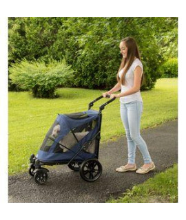 EXCURSION NO-ZIP PET STROLLER, MIDNIGHT BLUE