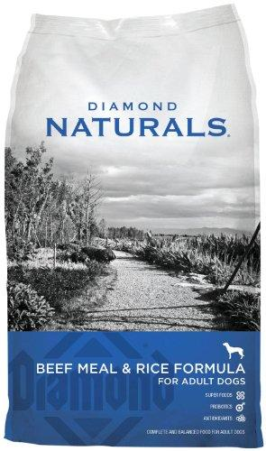 Diamond Naturals ADULT Real Meat Recipe Natural Dry Dog Food with Real Pasture Raised Beef Protein 40lb