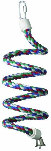 Super Bird Creations 1/2-Inch by 52-Inch Rope Bungee Bird Toy, Small