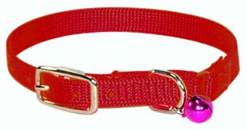 Hamilton Safety Cat Collar with Bell, Red, 3/8