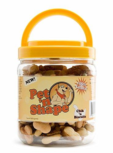 Pet n Shape Chik n Biscuits Natural Dog Treats, 1-Pound Tub