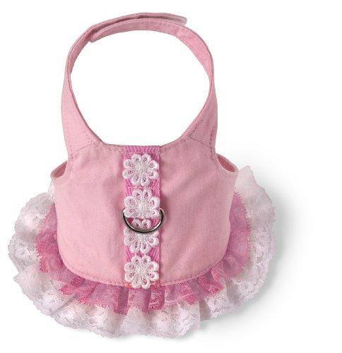 Doggles Dog Harness Dress, Pink, Teacup