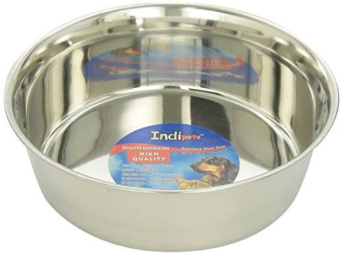 Indipets Stainless Steel Extra Heavy Duty Pet Bowl, 3-Quart