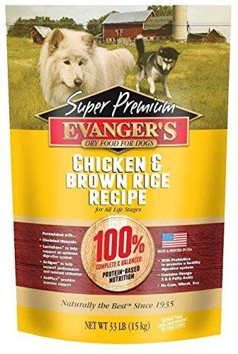 Evangers Super Premium Dog Food Chickent with Brown Rice 33 lbs