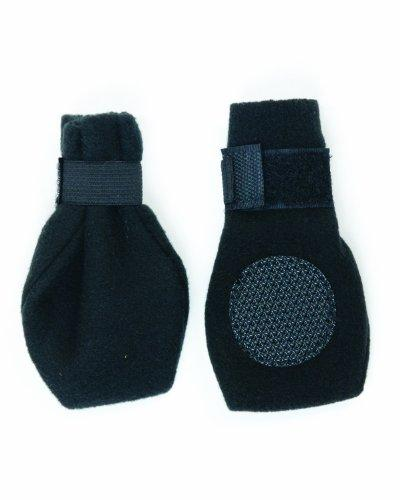 Fashion Pet Lookin Good Arctic Fleece Boots for Dogs, Large, Black