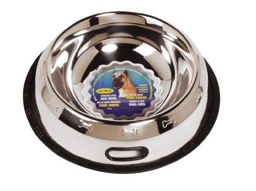 Dogit Stainless Steel Non-Spill Dog Dish, 96-Ounce