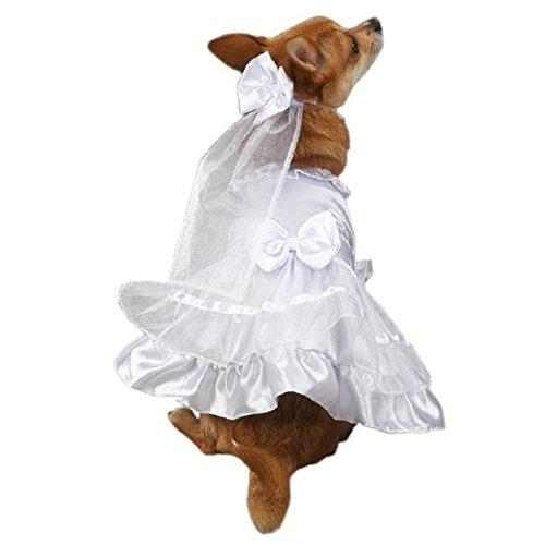 East Side Collection Polyester Yappily Ever After Dog Wedding Dress, XX-Small, 8-Inch, White