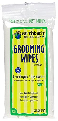 Earthbath All Natural Hypo-Allergenic Grooming Wipes, 28-Count Travel Pack
