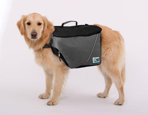 Doggles Dog Backpack, Extreme Small, Gray/Black