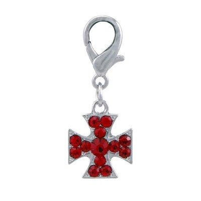 Dogit Style Charm, Cross-Red