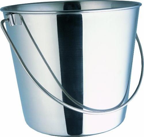 Indipets Heavy Duty Stainless Steel Pail, 16-Quart