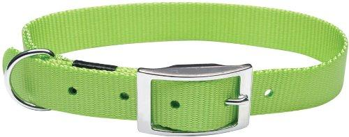 Dogit Nylon Double Ply Dog Collar with Buckle, X-Large, 20-Inch, Green