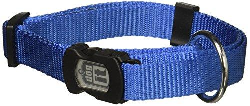 Dogit Nylon Adjustable Single Ply Dog Collar with Plastic Snap, Large, 3/4-Inch, Blue