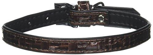Dogit Style Faux Leather Dog Collar, Milano, Small, Brown