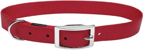 Dogit Nylon Double Ply Dog Collar with Buckle, X-Large, 20-Inch, Red