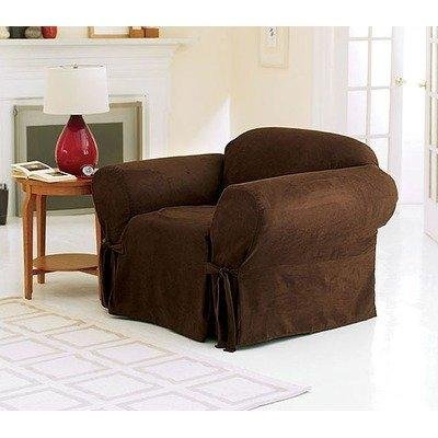 Sure Fit Soft Suede 1-Piece  - Chair Slipcover  - Taupe (SF32535)