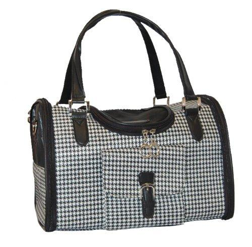 Anima Houndstooth Print Travel Carrier, 15-Inch by 8-Inch by 10-Inch, Medium