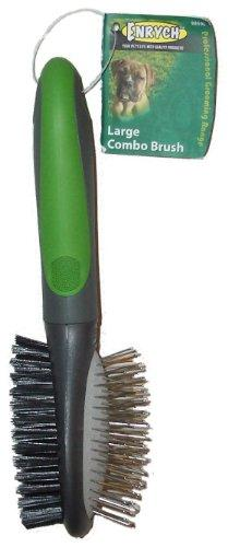 Enrych Pet Combination Brush, Large, Green/Gray Series