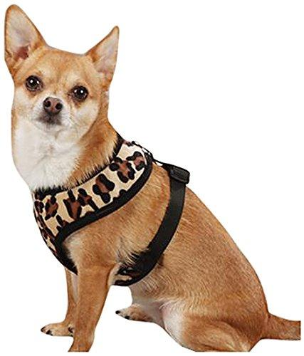 East Side Collection Polyester Plush Leopard-Print Dog Harness, Large