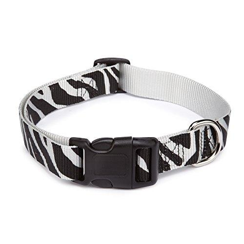 East Side Collection Zebra-Print Nylon Dog Collar, 1420 Inch