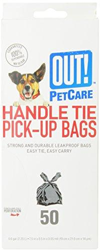OUT! Handle Tie Dog Waste Bags, 6x8.5 in, 50 bags