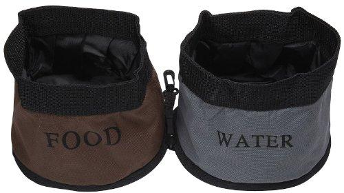 Double Water Travel Pet Bowl, One Size, Camouflage