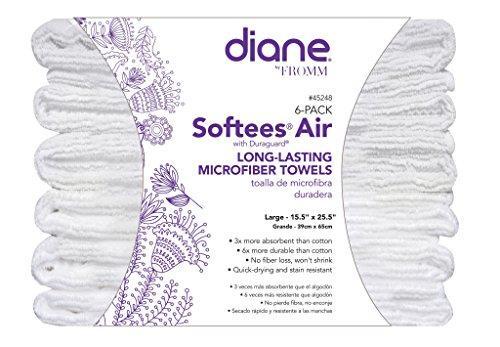 Diane Softees Air Long-Lasting Microfiber Towels (6 Pack)