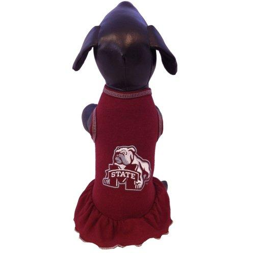 NCAA Mississippi State Bulldogs Cheerleader Dog Dress (Team Color, X-Small)