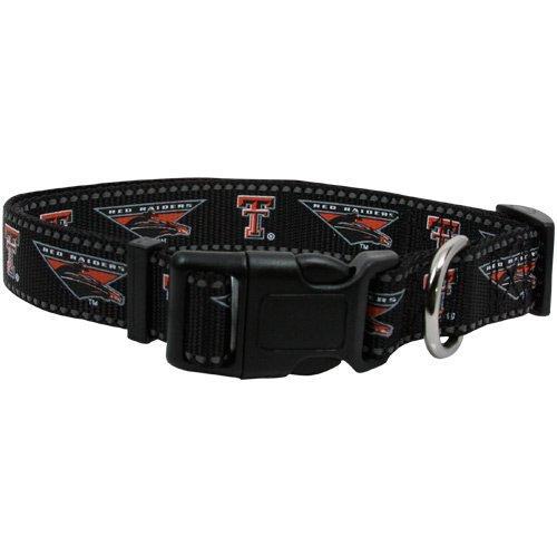 Pet Goods NCAA Texas Tech Red Raiders Dog Collar, Medium