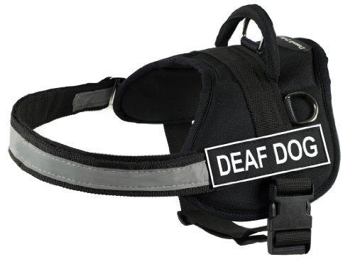 Dean & Tyler Harness Deaf Dog, Medium, Fits Girth Size: 28 to 38-Inch, Black/White